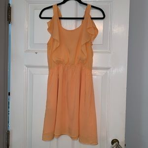 BCBG Flowy orange sundress